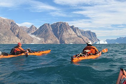 Kayaking in Scoresby sund , image by Dan Jones